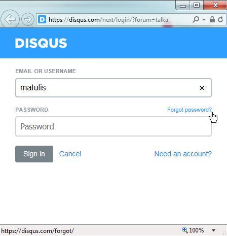 Disq.us pop-up login